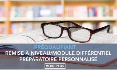 Remise à niveau / module différentiel préparatoire personnalisé RAN / MDPP)